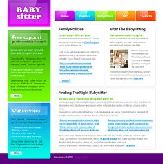 Babysitter Nanny Website Templates by Mercury