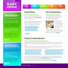 Babysitter Nanny Website Templates by Mercury