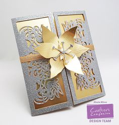 Crafter's Companion USA Tutorial: Wedding Invitation Card #EdgeableDies #CraftersCompanion #Ultimate