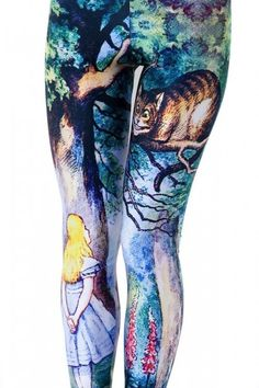 Alice in Wonderland leggings, if only they would still look like this once they were on my legs...