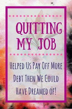 Here is a guide on how I was able to quit my job and pay more debt than I could have dreamed of