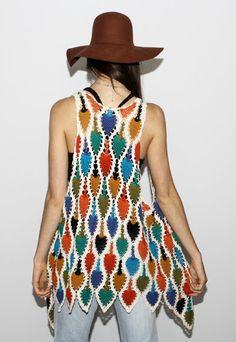 Crazy hippie crochet vest. Delicious.