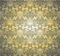 Vintage Green Gold Floral Vector Pattern - http://www.welovesolo.com/vintage-green-gold-floral-vector-pattern/