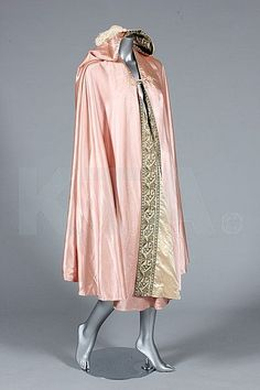 Liberty & Co Pink Satin Reversible (to iory) Evening Cape, c. 1910, Kerry Taylor Auctions
