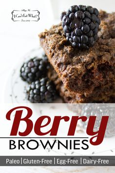 All 3 of my kids and my husband fell in love last night. With me of course for finding this amazing Berry Brownie gluten-free, paleo, egg-free and dairy-free dessert.