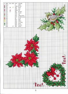 FREE Cross Stitch: Ideas for Christmas tablecloths cross stitch