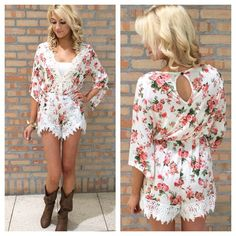 cute romper but I wouldn't wear it with those boots, only exception might be cowboy boots