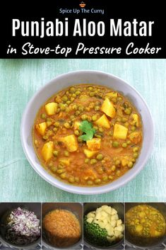 This Punjabi style vegan Aloo Matar Gravy is done in 20 minutes (start to finish). This is made in a pressure cooker (or Instant pot) and it's our favorite quick weeknight meal. SO EASY and QUICK Indian food! Paneer Recipes, Curry Recipes, Vegetarian Recipes, Healthy Recipes, Lunch Recipes, Aloo Matar Recipe, Sabzi Recipe, North Indian Recipes, Indian Food Recipes