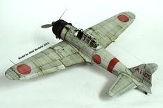 By Oishi Nattapong Suwanarath. Navy Aircraft, Ww2 Aircraft, Military Aircraft, Plastic Model Kits, Plastic Models, Scale Models, Best Scale, Imperial Japanese Navy, Model Hobbies