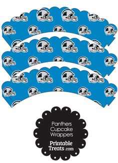 Carolina Panthers Football Helmet Scalloped Cupcake Wrappers from PrintableTreats.com
