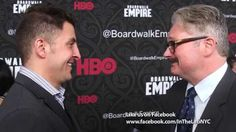 "John Ellison Conlee aka 'The Commodore' chats with #InTheLab host Arthur Kade at the premiere for the final season of HBO's ""Boardwalk Empire""."