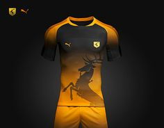 Concept Kit for the Game of Thrones Faction - House Baratheon Football Kits, Football Jerseys, Sports Jerseys, Soccer Shirts, Sports Shirts, Sport Shirt Design, Sports Uniforms, Soccer Players, American Football