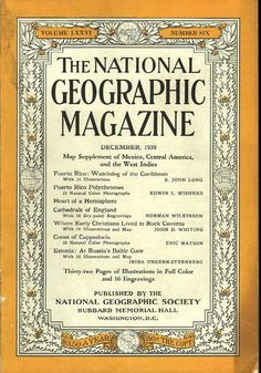 National Geographic December 1939