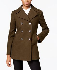 99.99$  Watch here - http://viqrq.justgood.pw/vig/item.php?t=xcu34c37898 - Petite Double-Breasted Peacoat, Only at Macy's