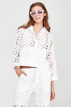 COOPER Summer 2016 CO6678-34 Fabric Name & Composition Hole Shebang- Cotton broderie anglaise