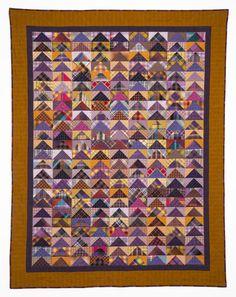 Purple Geese plaid quilt by Susan Dague