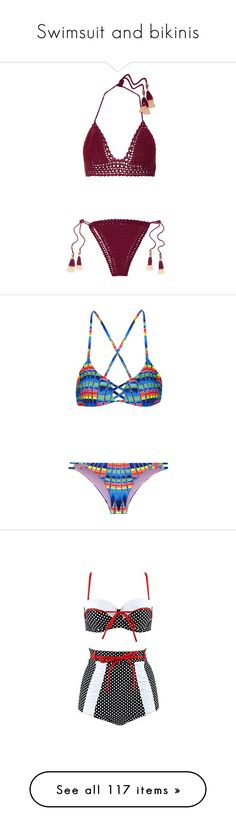 """Swimsuit and bikinis"" by bliznec ❤ liked on Polyvore featuring swimwear, bikinis, swimsuit, burgundy, halter swimsuit, halter bathing suit, brazilian bikini, brazilian cut bikini, swimsuits bikinis and one-piece swimsuits"