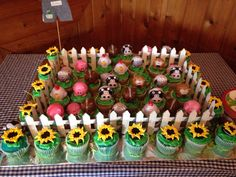 Farm baby shower cupcakes                                                                                                                                                     More