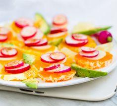 Citrus Radish Avocado Platter.