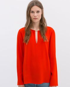 ZARA - COLLECTION AW14 - LONG-SLEEVED TOP
