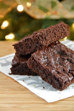 Lightened Up Chocolate Gingerbread Brownies. Moist and tender, sweet and spicy, rich and complex -- you won't believe they're made with reduced butter and sugar.