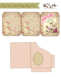The graphics I used to design my Tiny Tri-Fold May Day Card & Pocket (CLICK the image) Papel Vintage, Vintage Paper, Journal Cards, Junk Journal, Scrapbook Albums, Scrapbook Paper, Envelopes, Etiquette Vintage, Deco Retro