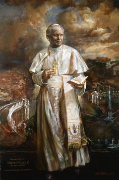 Saint Pope John Paul II - wondrous official painting by the Vatican artist