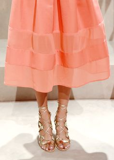 Coral + gold = one of our new favorite combinations | Banana Republic Spring '16 NYFW Presentation