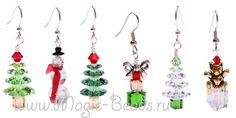 More Holiday Jewelry Ideas Beaded Beads, Beads And Wire, Beaded Jewelry, Beaded Crafts, Jewelry Crafts, Jewelry Ideas, Ideas Joyería, Xmas Ideas, Deco Table Noel