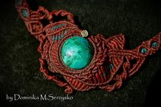 Items similar to red macrame necklaces with turquoise chrysocolla stone from Peru / turquoise // red necklaces // natural stone // for her // organic //boho on Etsy Red Necklace, Macrame Necklace, Beaded Bracelets, Necklaces, Turquoise Blue Color, Green Colors, Natural Stones, Turquoise Bracelet, Wax