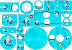 Pool Party for blondieie Kids: Free Printable Candy Bar Labels.