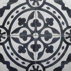 Tyler, cement hand painted tile, cool floor tiles, bold floor tiles