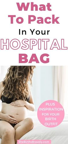 Have a look at this checklist of what to pack in your hospital bag for labor. Plus see what Mom's are wearing during the birth of their babies. It's not hospital gowns!  #doula #thirdtrimester #hospitalbag #firsttimeMom #pregnancy #labor #givingbirth All About Pregnancy, Pregnancy Labor, Pregnancy Advice, Pregnancy Stages, Labor Hospital Bag, Hospital Gowns, Hospital Birth, Baby Shower Checklist, Baby On A Budget