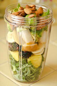 Power packed Smoothie-  Add your Vi Shape 2 scoops, Kale, Pineapple, Blackberries, Pear, Avocado, Parsley, Almonds, Add Water  Splash of Coconut Milk  Blend.