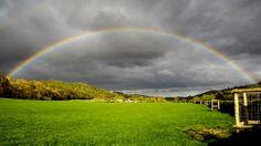 David Cave captured this gorgeous rainbow on 1st May near Pwllheli, Wales via BBC Weather