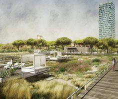 """A área abrangida por esta proposta é adjacente à que já foi objecto de uma habitação urbana e de uma renovação ambiental, com a implementação de um programa integrado conhecido como """"Merville – Casa nel Parco"""", um projecto de importância …"""