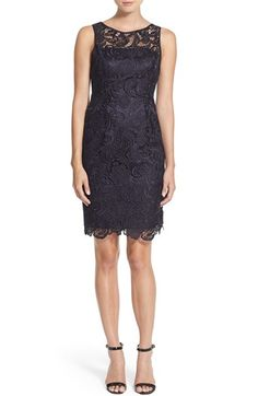 Nordstrom-Adrianna Papell, Illusion Bodice Lace Sheath Dress, $168.00
