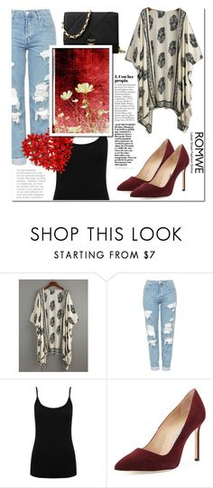 """""""Romwe Contest"""" by miralema98 ❤ liked on Polyvore featuring Topshop, M&Co, Manolo Blahnik, Michael Kors and vintage"""