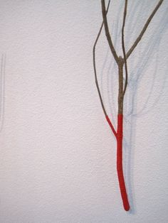Branch covered with thread
