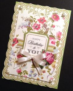 Shabby-Sweet Floral Birthday Card with by PinkPetalPapercrafts