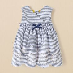 newborn - girls - seersucker dress | Children's Clothing | Kids Clothes | The Children's Place