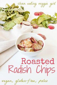 Roasted Radish Chips {Vegan, Gluten-Free}