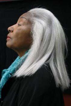 Teresa Ramey.....I love a beautiful head of silver hair....it seems to show wisdom....