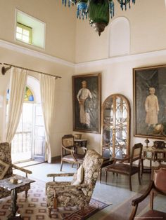 Drawing Room at the Deogarh Palace Hotel, India