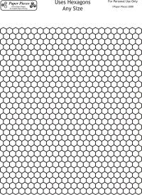 Hexagon Design Sheet- FREE Printable Paperpieces.com Break out the colored pencils & design your layout for all those basted hexies!