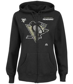 ONLY $28.99 AND FREE SHIPPING Pittsburgh Penguins WOMEN'S 2XL NHL Goal Line Fleece Hoodie  NEW/NWT Maj $50RET #MajesticFanFashion #PittsburghPenguins #polyvore #shopstyle #NHL