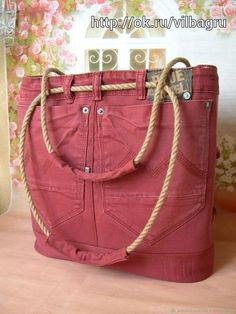 Handbag Trends: Handmade women s bags. Handbag Trends: Handmade women s bags. Denim bag Source by magazineflashmode - Jean Purses, Purses And Bags, Women's Bags, Tote Bags, Diy Tote Bag, Sewing Jeans, Denim Crafts, Recycle Jeans, Crochet Handbags