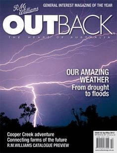 the latest cover of OUTBACK, showing an electrical storm near Kununurra, WA