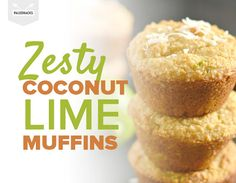 Zesty Coconut Lime Muffins