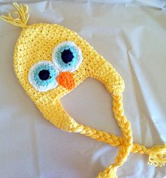 Baby or Toddler Yellow Chick Hat/ Custom Crochet/ by OldSoulCharm, $22.00